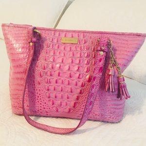 Brahmin Medium Pink Asher Shoulder Bag